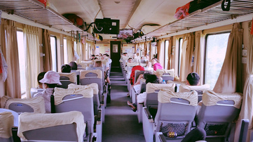 the reunification express train, vietnam