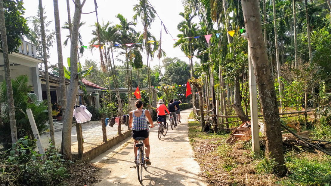 Countryside bike ride in Hoi An Vietnam