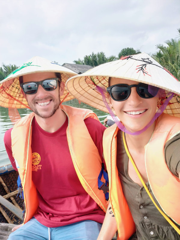 Cohica Travel founders Megan and Ryan in Hoi An Vietnam
